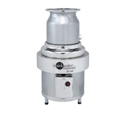 Insinkerator SS-1000-6-CC101 208 Disposer Package w/ #6-Adapter & CC101 Panel, 10-HP, 208/3 V