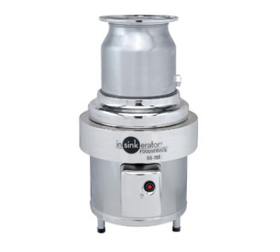 InSinkErator SS-750-6-CC202 460 Disposer Package w/ #6-Adapter & CC202 Panel, 7.5-HP, 460/3 V