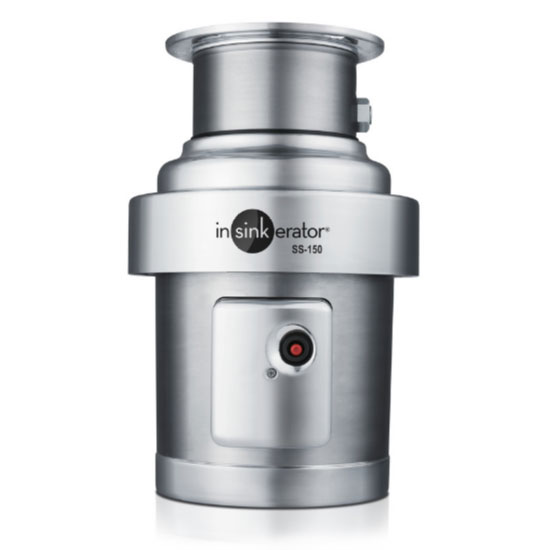 InSinkErator SS-150-12A-MS Complete Disposer Package, 1-1/2 HP, 12 in Bowl with Cover, 208V/1PH