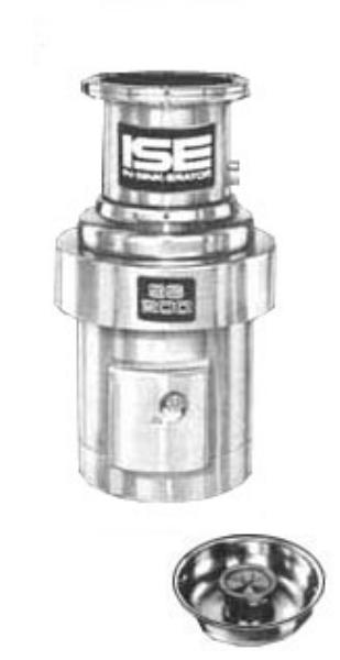 InSinkErator SS-200-12B-MS Complete Disposer Package, 2 HP, 12 in Bowl with Silver Sleeve Guard, 208V