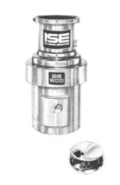 InSinkErator SS-200-15A-MS Complete Disposer Package, 2 HP, 15 in Bowl with Cover, 208V/1PH
