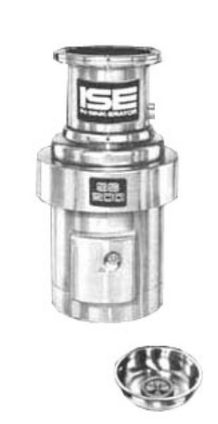 InSinkErator SS-200-15C-MS Complete Disposer Package, 2 HP, 15 in Bowl, 208V/1PH