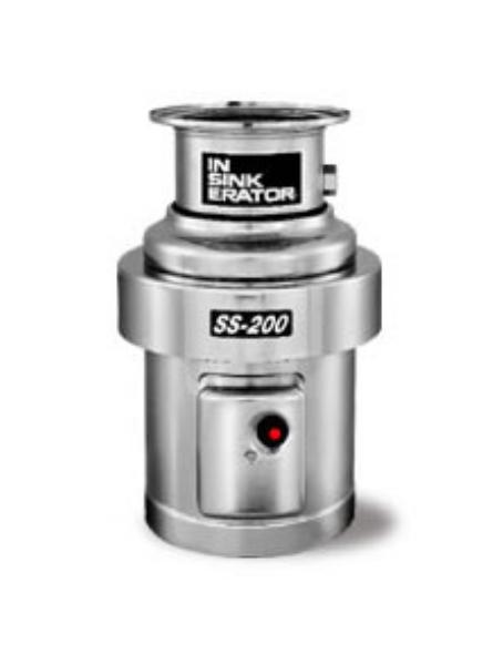 Insinkerator SS-200-6-MS Complete Disposer Package, 2 HP, #6 Adaptor, 208V/1PH