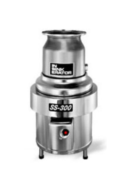 InSinkErator SS-300-6-MS Complete Disposer Package 3 HP #6 Adaptor 208V/3PH Restaurant Supply