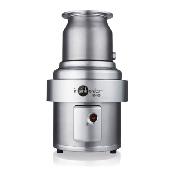 Insinkerator SS-300 Disposer, Basic Unit Only, S/S, 3 HP, 208V/3PH