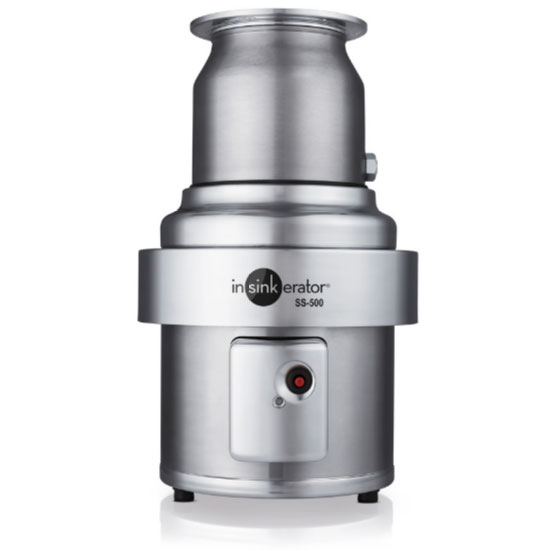 InSinkErator SS-500 Disposer, Basic Unit Only, S/S, 5 HP, 208V/3PH