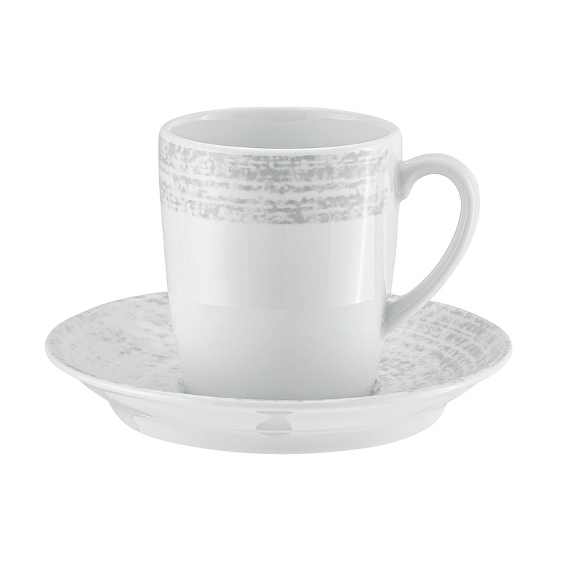 Syracuse China 9015270-63070 6.75-oz Shabby Chic Cup - Porcelain, Structure Gray