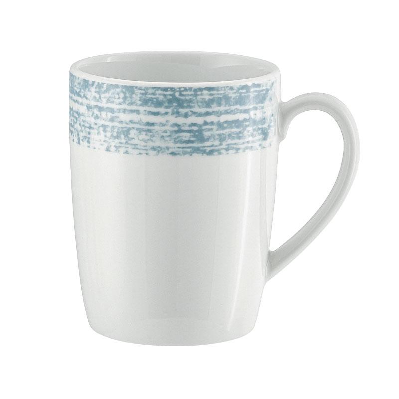 Syracuse China 9015630-63072 10.13-oz Shabby Chic Mug - Porcelain, Structure Blue