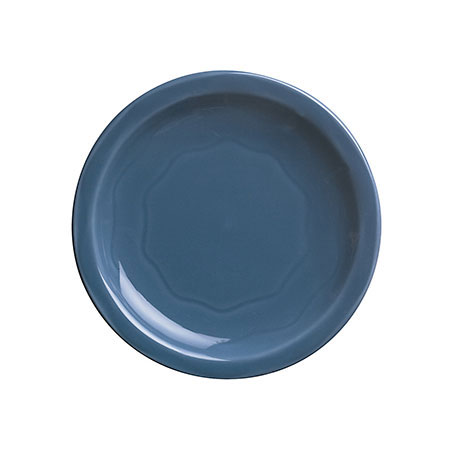 "Syracuse China 903032009 Plate w/ Cantina Carved Pattern & Shape, Flint Body, 6.25"", Blueberry"