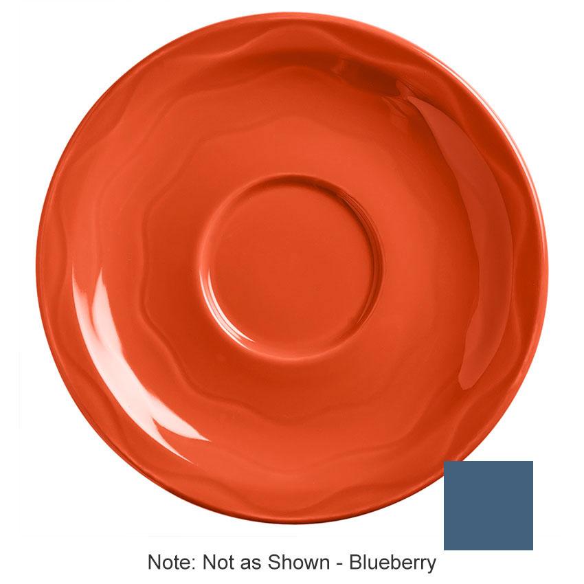 """Syracuse China 903032201 6-1/4"""" Cantina Saucer - Round, Glazed, Blueberry"""