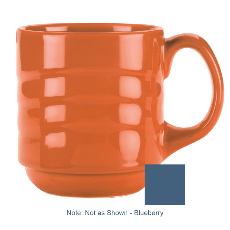 Syracuse China 903032888 12-oz Cantina Mug - Glazed, Blueberry