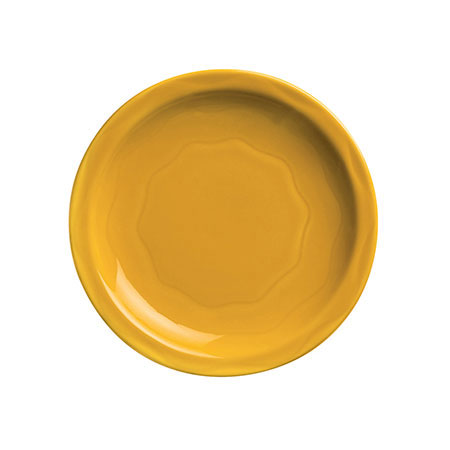 "Syracuse China 903033002 Plate w/ Cantina Carved Pattern & Shape, Flint Body, 11.37"", Saffron"