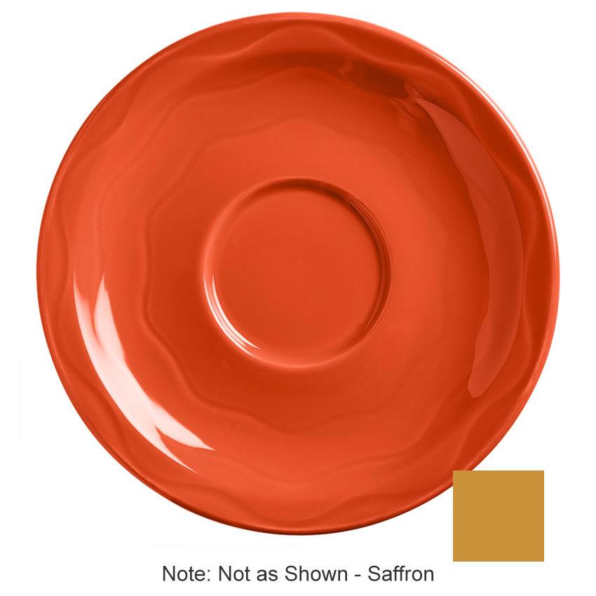 "Syracuse China 903033201 6-1/4"" Cantina Saucer - Round, Glazed, Saffron"