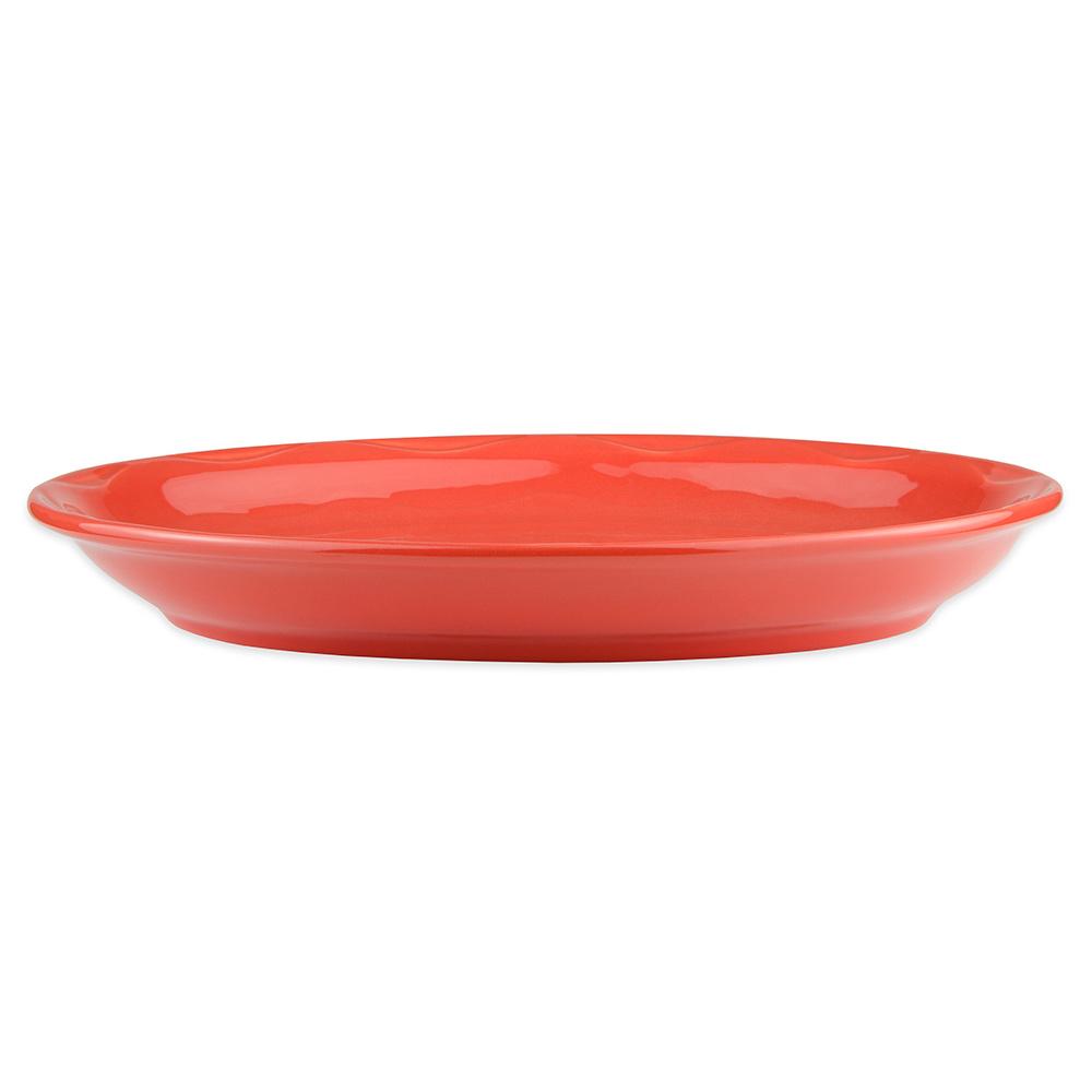 """Syracuse China 903034001 Oval Platter, Cantina Carved Pattern & Shape, Flint, 13.62x10.62"""", Cayenne"""