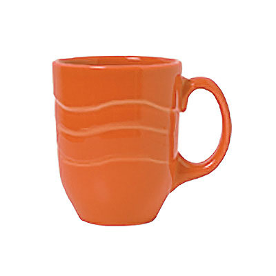Syracuse China 903034004 10-oz Mug w/ Cantina Carved Pattern & Shape, Flint Body, Cayenne