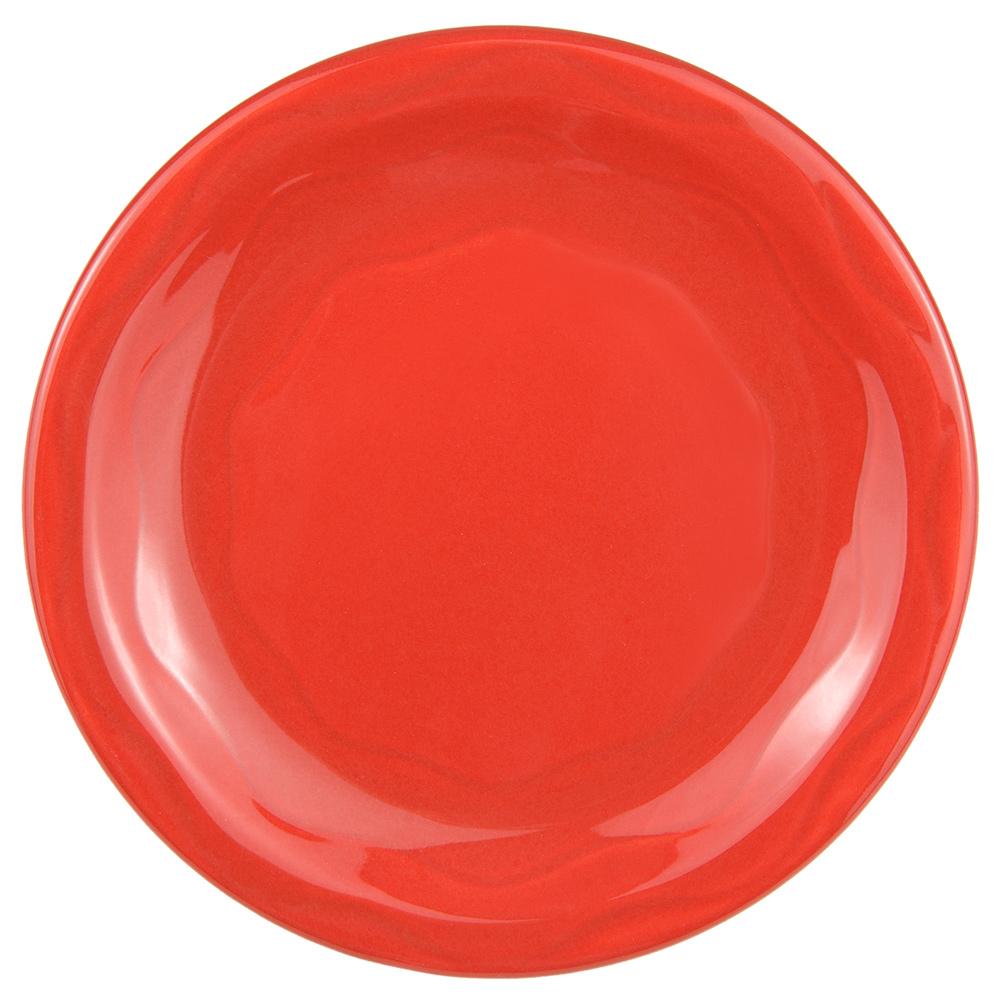 "Syracuse China 903034009 Plate w/ Cantina Carved Pattern & Shape, Flint Body, 6.25"", Cayenne"