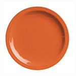 "Syracuse China 903034010 Plate w/ Cantina Carved Pattern & Shape, Flint Body, 9"", Cayenne"