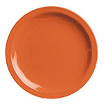 "Syracuse China 903034011 Plate w/ Cantina Carved Pattern & Shape, Flint Body, 10.25"", Cayenne"