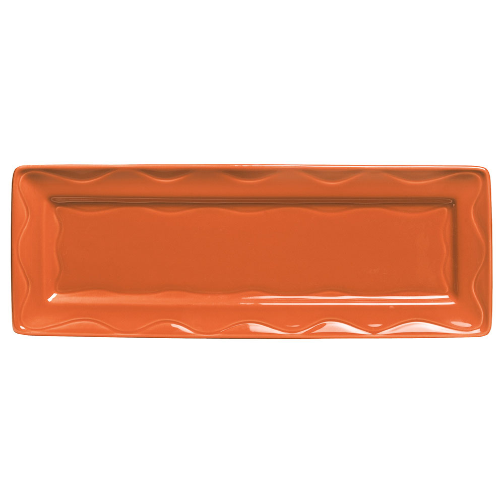 "Syracuse China 903034117 12-3/4"" Cantina Tray - Glazed, Cayenne"