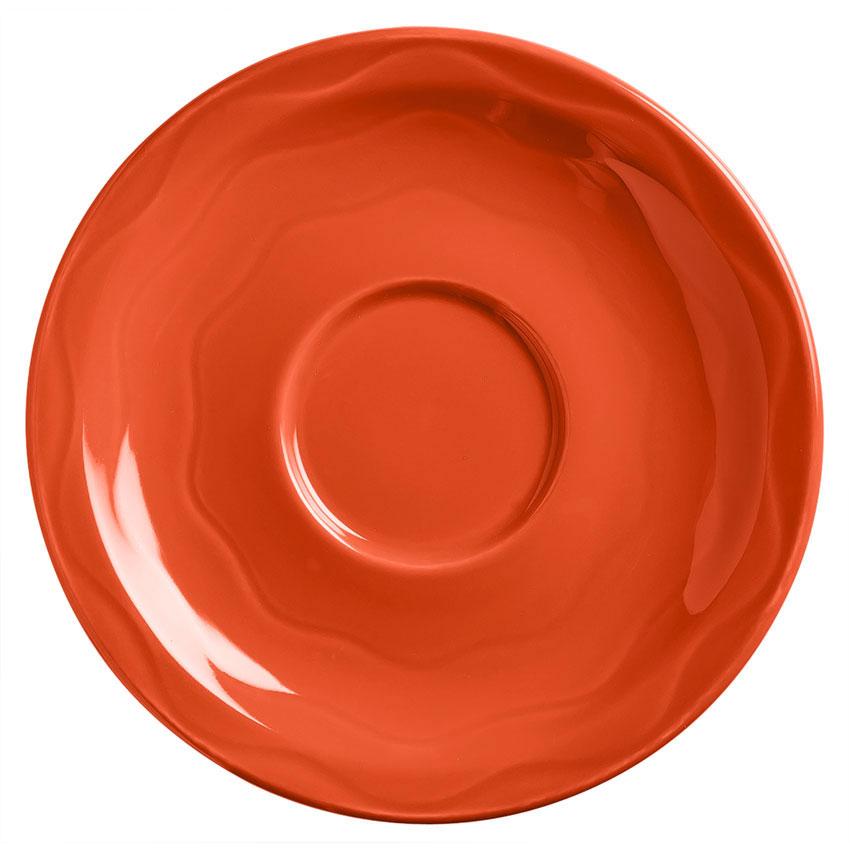 "Syracuse China 903034201 6-1/4"" Cantina Saucer - Round, Glazed, Cayenne"