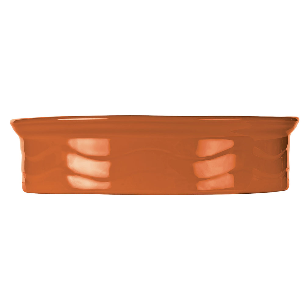 "Syracuse China 903034500 7-1/2"" Cantina Tortilla Warmer - Round, Cayenne"