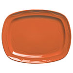 "Syracuse China 903034640 12-1/2"" Cantina Racetrack Platter - Glazed, Cayenne"