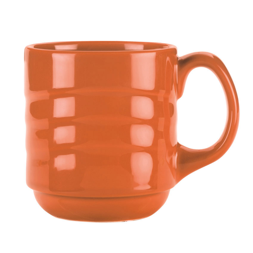Syracuse China 903034888 12-oz Cantina Mug - Glazed, Cayenne