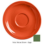 "Syracuse China 903035201 6-1/4"" Cantina Saucer - Round, Glazed, Sage"