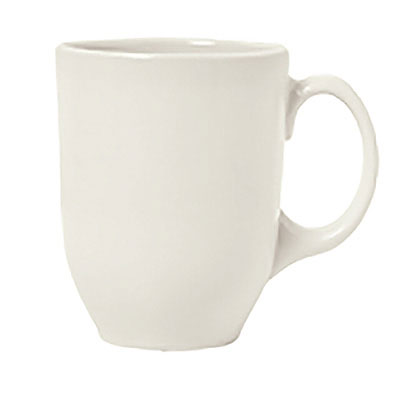 Syracuse China 903042001 11-oz Mug w/ Cantina Uncarved Pattern & Shape, Flint Body, White