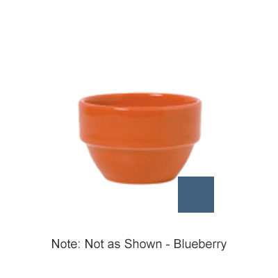 Syracuse China 903043370 8-oz Stackable Bouillon w/ Cantina Uncarved Pattern, Republic Shape, Blueberry