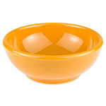 Syracuse China 903044003 18.37-oz Oatmeal Bowl w/ Rolled Edge & Cantina Shape, Flint Body, Saffron