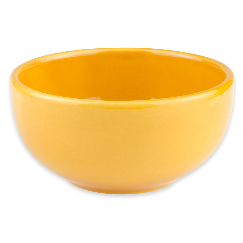 Syracuse China 903044005 8-oz Unhandled Bouillon w/ Cantina Uncarved Pattern, Republic Shape, Saffron