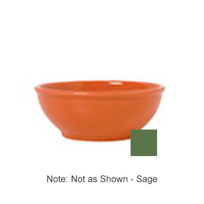 Syracuse China 903046002 5-oz Salsa Bowl w/ Cantina Uncarved Pattern & Shape, Flint Body, Sage