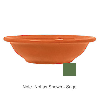 Syracuse China 903046012 6.5-oz Fruit Dish w/ Cantina Uncarved Pattern & Morwel Shape, Flint, Sage