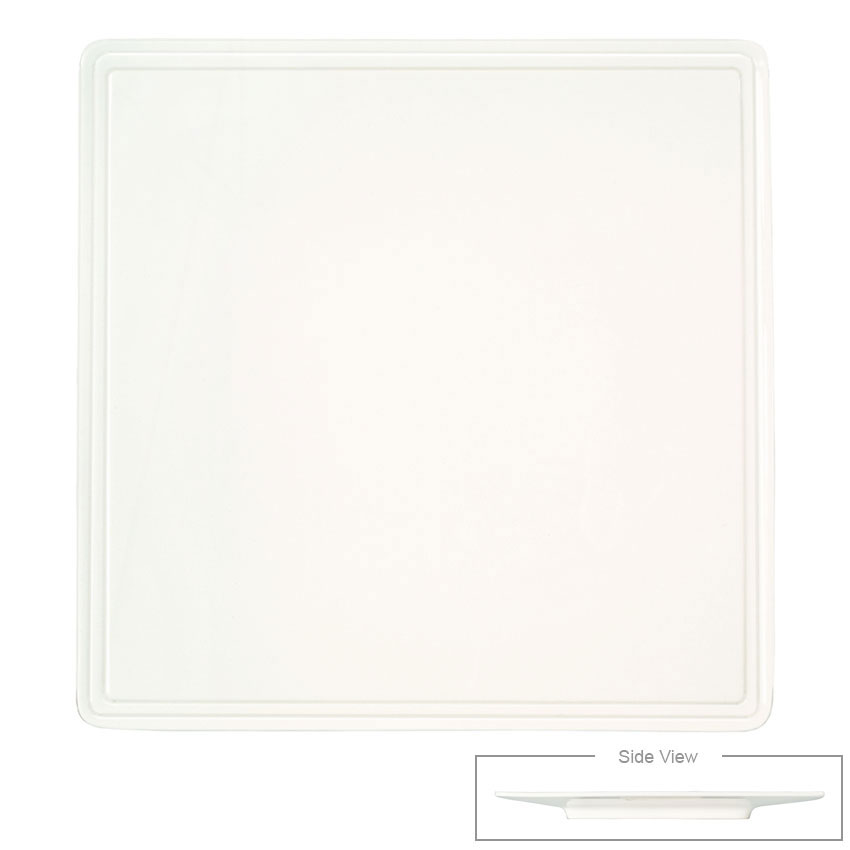 Syracuse China 905356000 Flat Square Plate, Narrow Rim, Slenda Pattern & Shape, Royal Rideau Body, 5.5-in