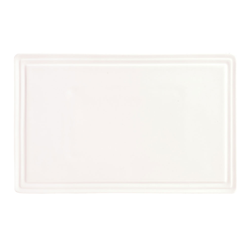 "Syracuse China 905356003 8-3/4"" Royal Rideau Tray - Rectangular, Slenda, White"