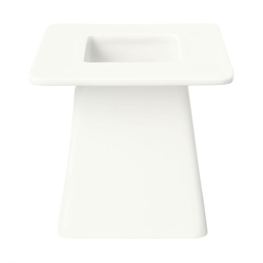 Syracuse China 905356008 6-in Square Pedestal w/ Slenda Pattern & Shape, Royal Rideau Body