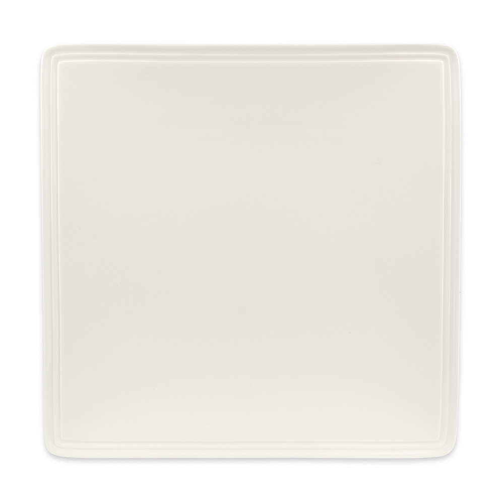 Syracuse China 905356006 Square Plate, Narrow Rim, Slenda Pattern & Shape, Royal Rideau Body, 12.25""