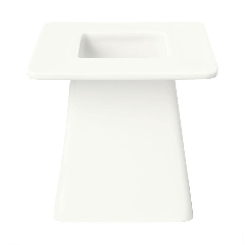 "Syracuse China 905356007 4"" Square Pedestal w/ Slenda Pattern & Shape, Royal Rideau Body"