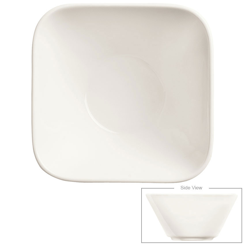 Syracuse China 905356111 10-oz Royal Rideau Bowl - Square, Slenda, White