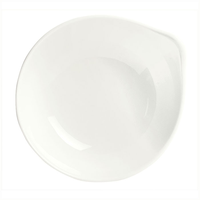 Syracuse China 905356112 4-1/2-oz Royal Rideau Pyramid Bowl - Round, Handle, White