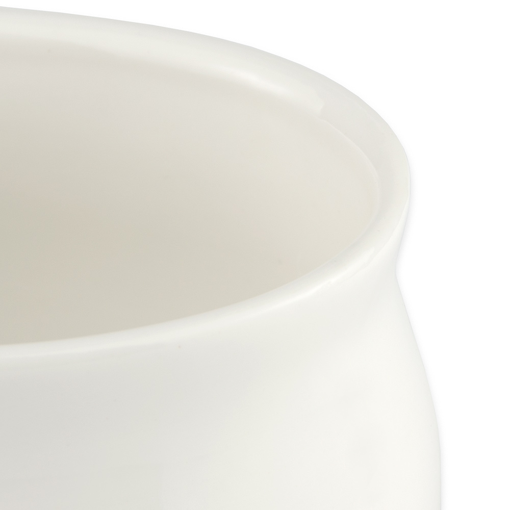 "Syracuse China 905356113 3-3/4"" Royal Rideau Sugar Packet Holder - Oval, Glazed, White"