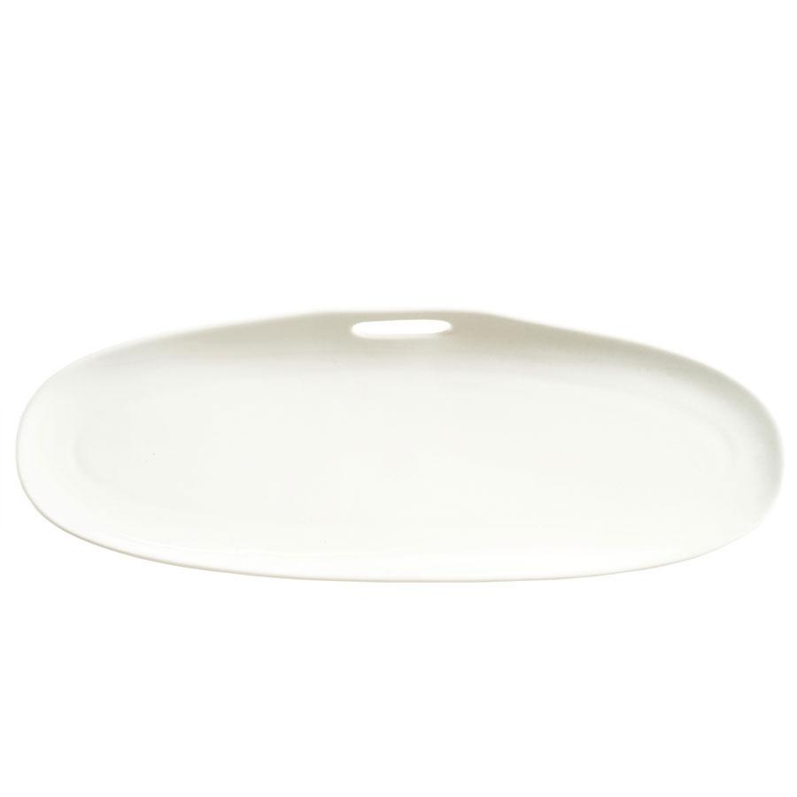 "Syracuse China 905356118 Rectangular Tray w/ Handle Cutout, Slenda Practica, 13.75x5"", White"