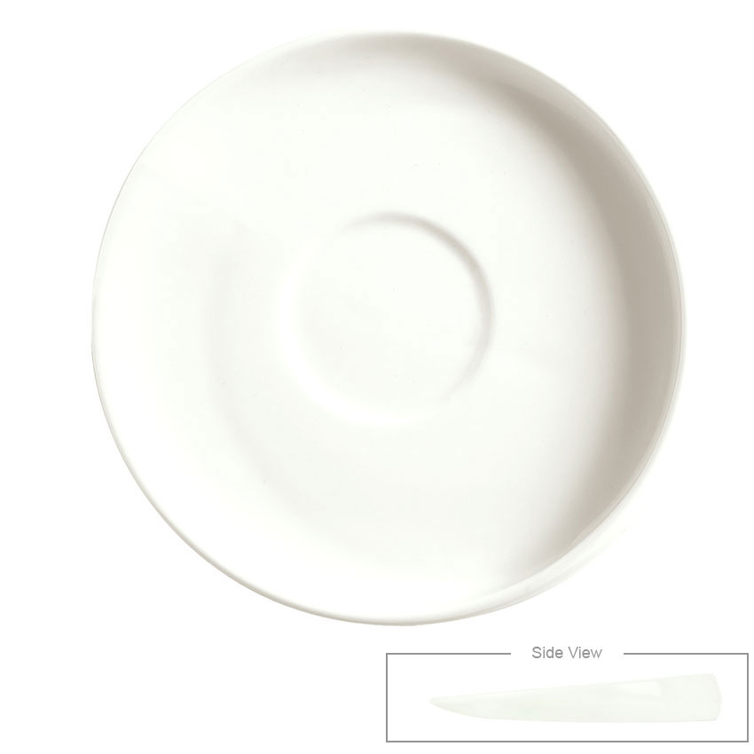 "Syracuse China 905356124 4.25"" Angular Saucer - Slenda Verve, White"