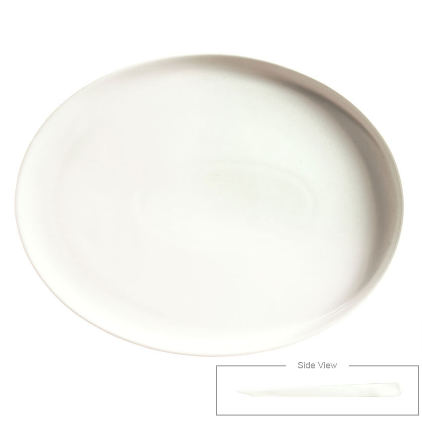 "Syracuse China 905356125 Oval Platter - Slenda Verve, 11.75x9"", White"