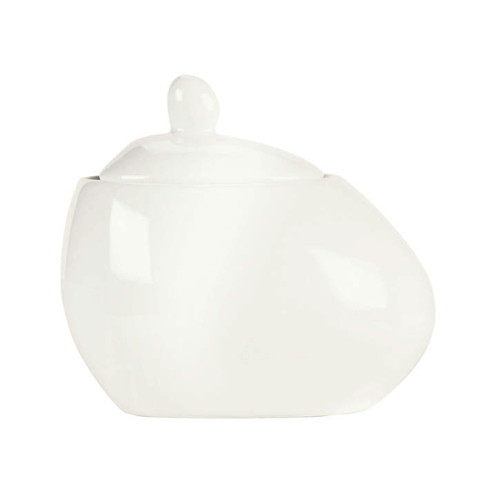 Syracuse China 905356127 5-oz Sugar Pot w/ Lid - Slenda Verve, White