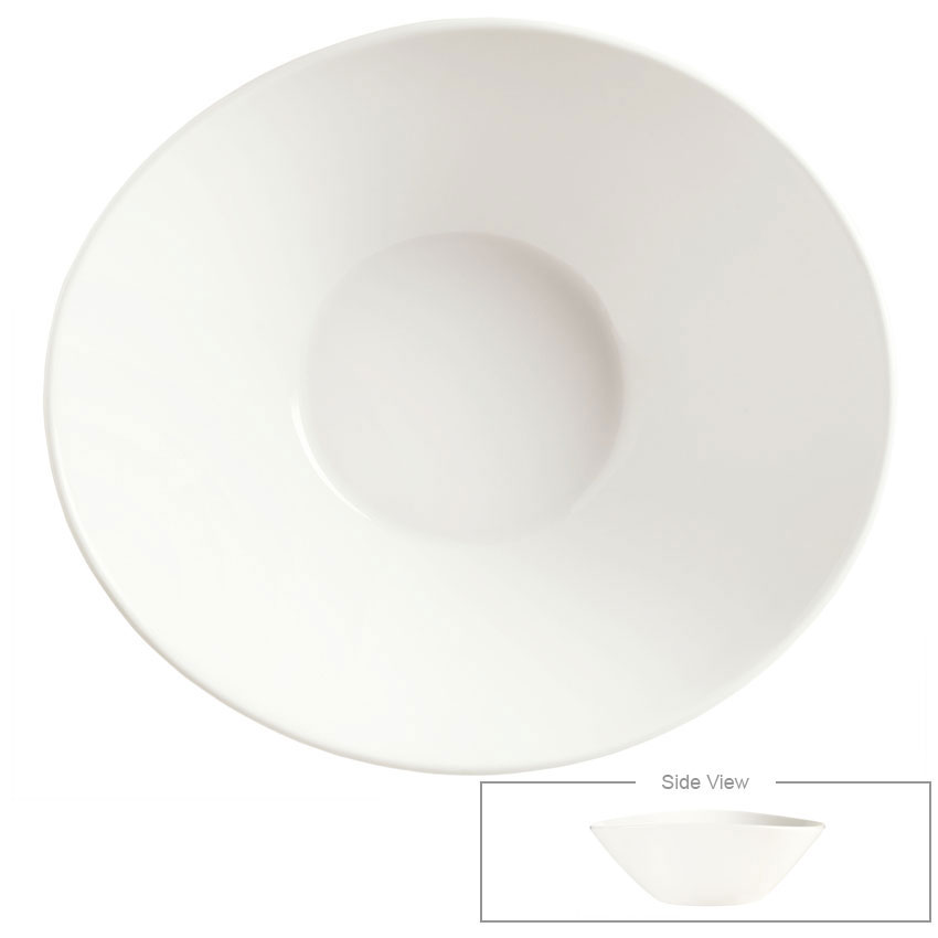 Syracuse China 905356136 70-oz Round Bowl - Slenda Perpetua, White
