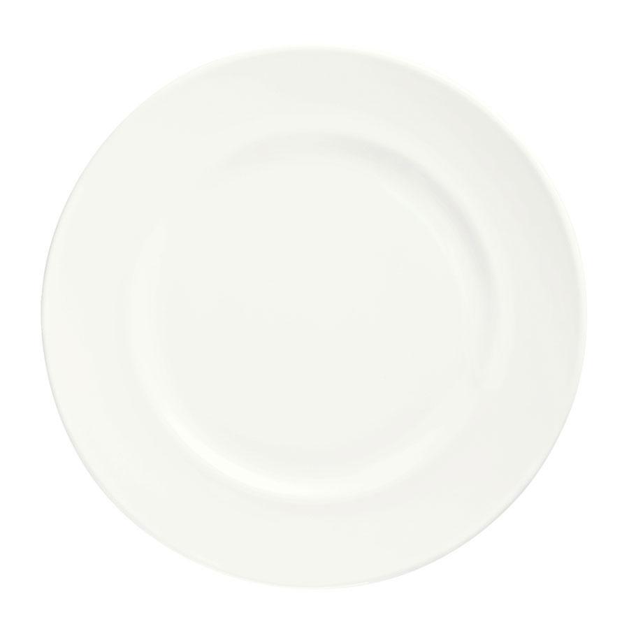 "Syracuse China 905356305 Round Plate w/ Wide Rim, Slenda Pattern & Shape, Royal Rideau Body, 6.75"""