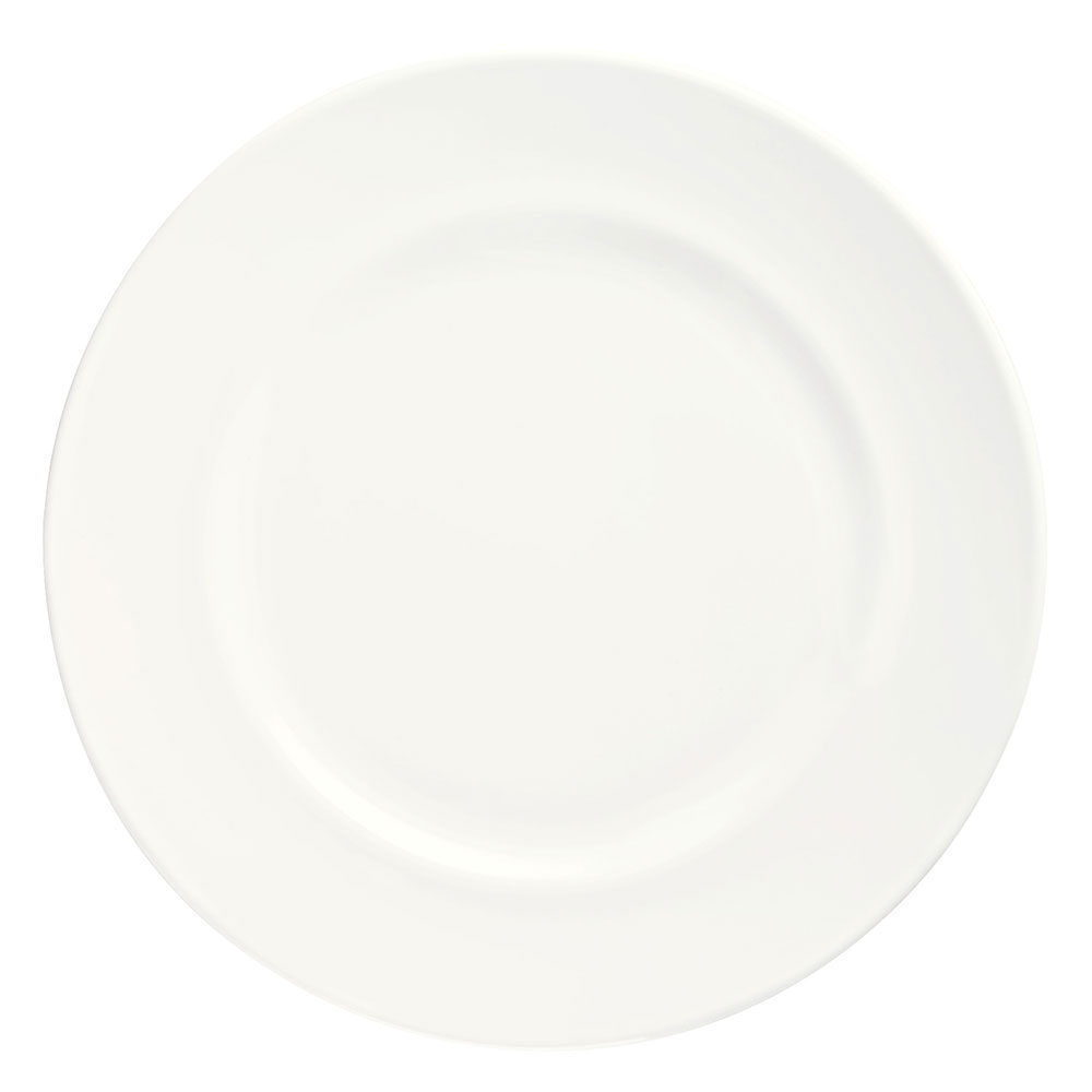 Syracuse China 905356306 Round Plate w/ Wide Rim, Slenda Pattern & Shape, Royal Rideau Body, 7.37""