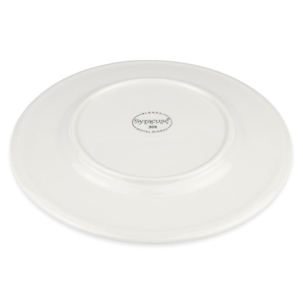"Syracuse China 905356308 Round Plate w/ Wide Rim, Slenda Pattern & Shape, Royal Rideau Body, 9"""